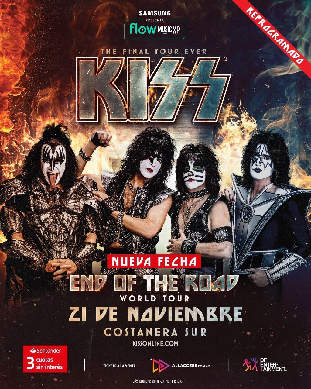 KISS en Argentina | Show REPROGRAMADO Sábado 21 de noviembre – Costanera Sur