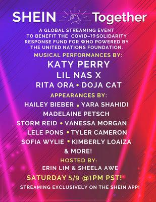 El minorista online global SHEIN, anuncia SHEIN TOGETHER con actuaciones de Katy Perry y Lil Nas X