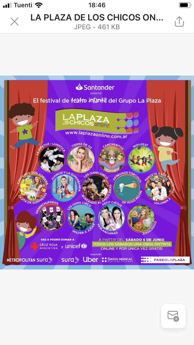 Lanzamiento de La Plaza de los chicos Online