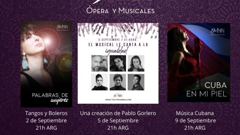 Programación de Teatro AMMA para los primero días de Septiembre