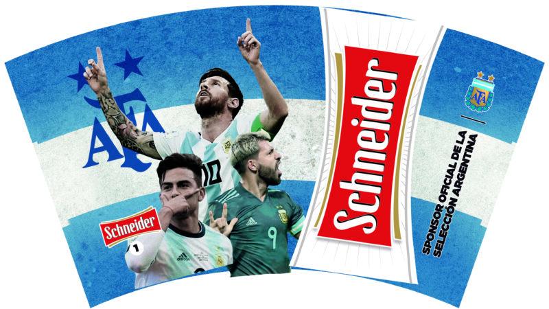¡Salen los vasos oficiales de la Selección Argentina para alentar con todo y brindar con una Schneider!