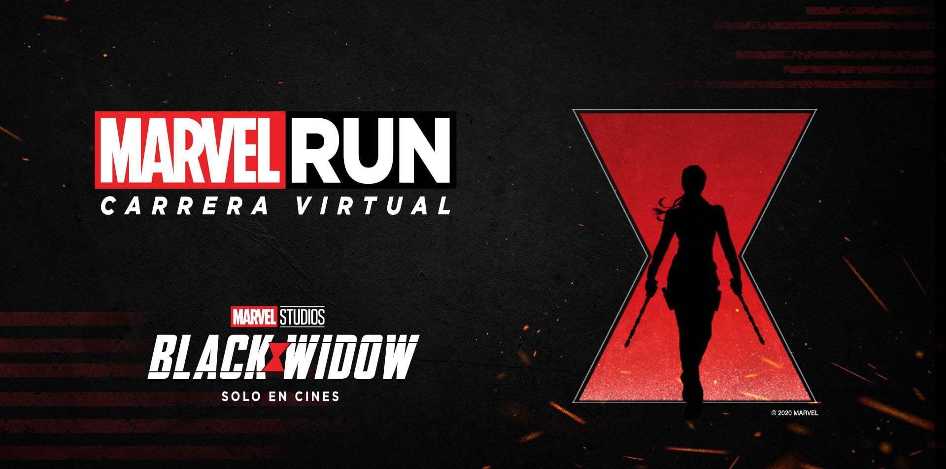#MarvelRunBlackWidow Ya están abiertas las inscripciones para Marvel Run