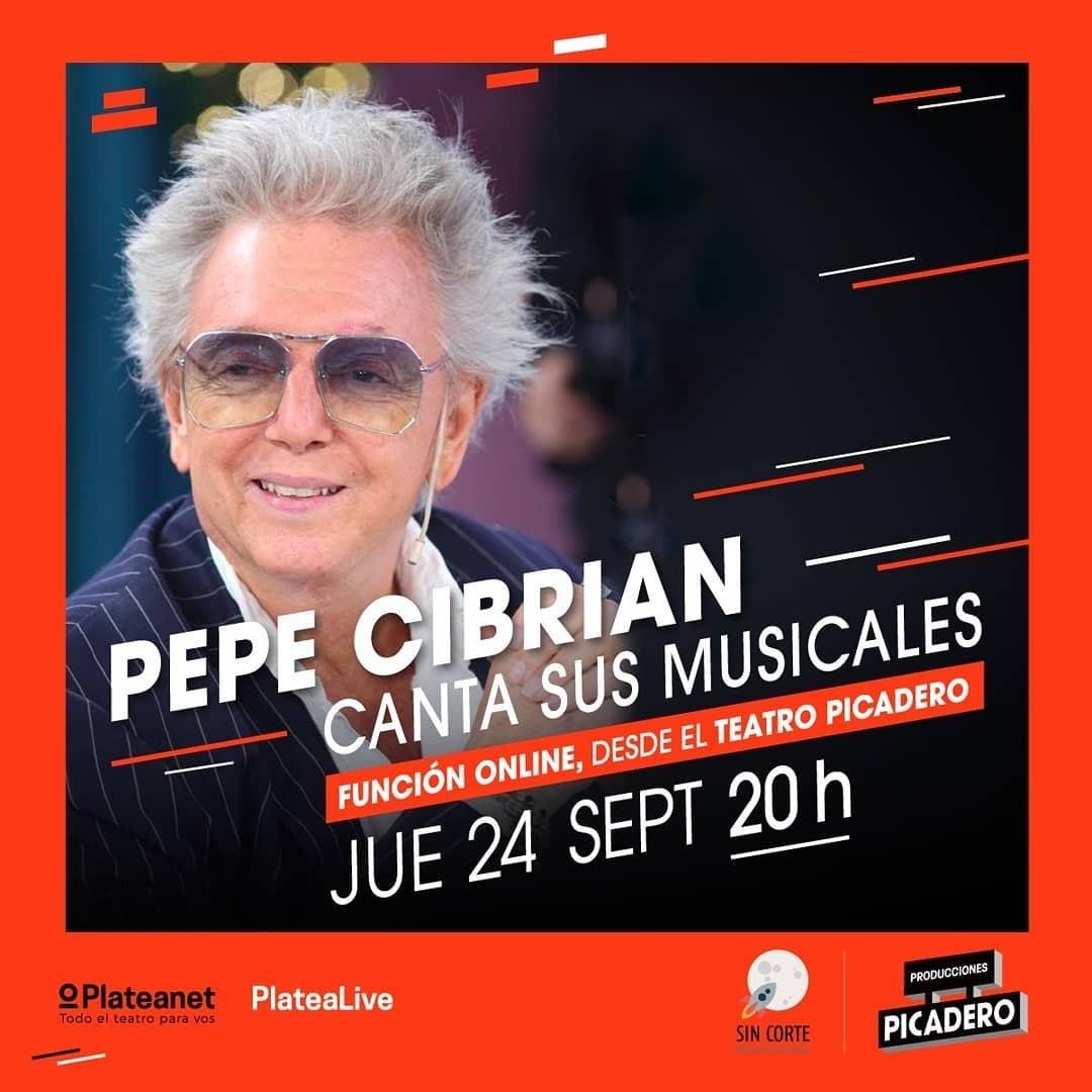 Pepe Cibrian canta con sus musicales