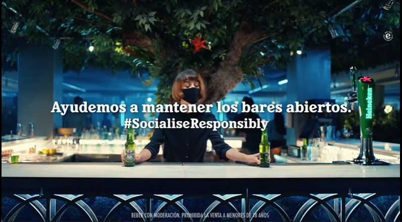 Heineken muestra cómo es volver a los bares y socializar responsablemente