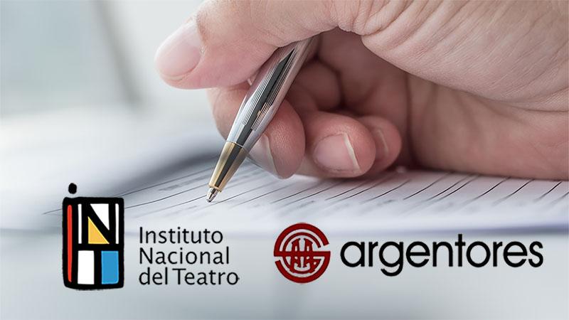 Argentores firmó un importante convenio con el Instituto Nacional Del Teatro