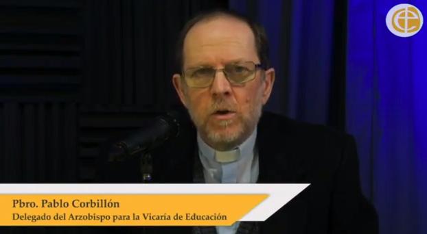 Pbro. Pablo Corbillón, Delegado del Arzobispo de Buenos Aires para la Vicaría Pastoral de Educación