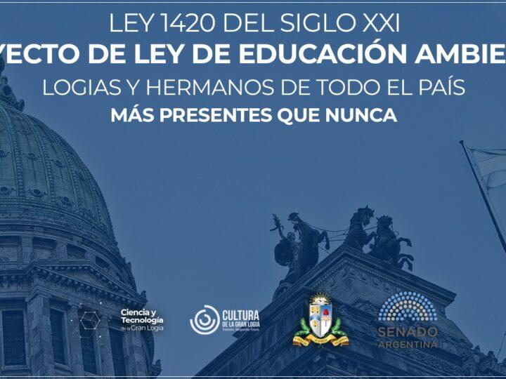 La Masonería Argentina impulsa una ley de educación ambiental LEY 1420 del Siglo XXI
