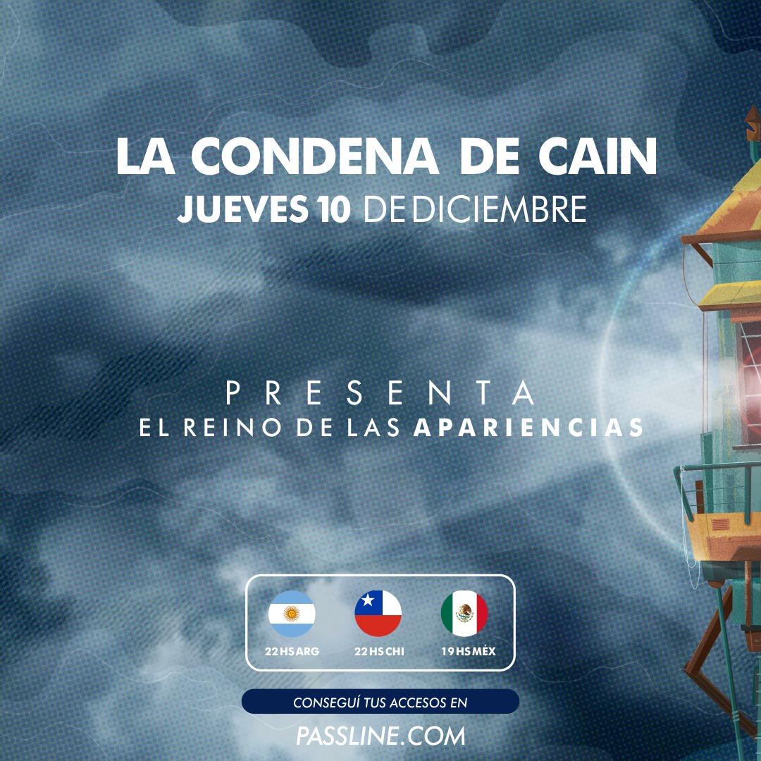 """La Condena de Cain: Presentación online de """"El Reino de las Apariencias""""    Buenos Aires No Duerme"""