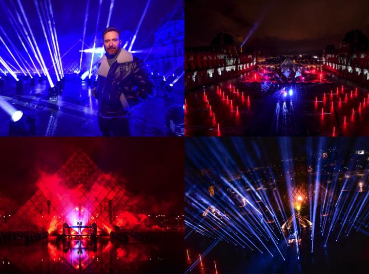 David Guetta celebró el Año Nuevo con su mayor producción a la fecha desde las pirámides del Louvre