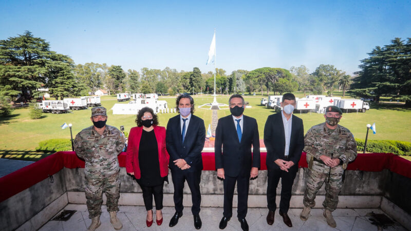 Presentaron el hospital móvil donado por China al Ministerio de Defensa