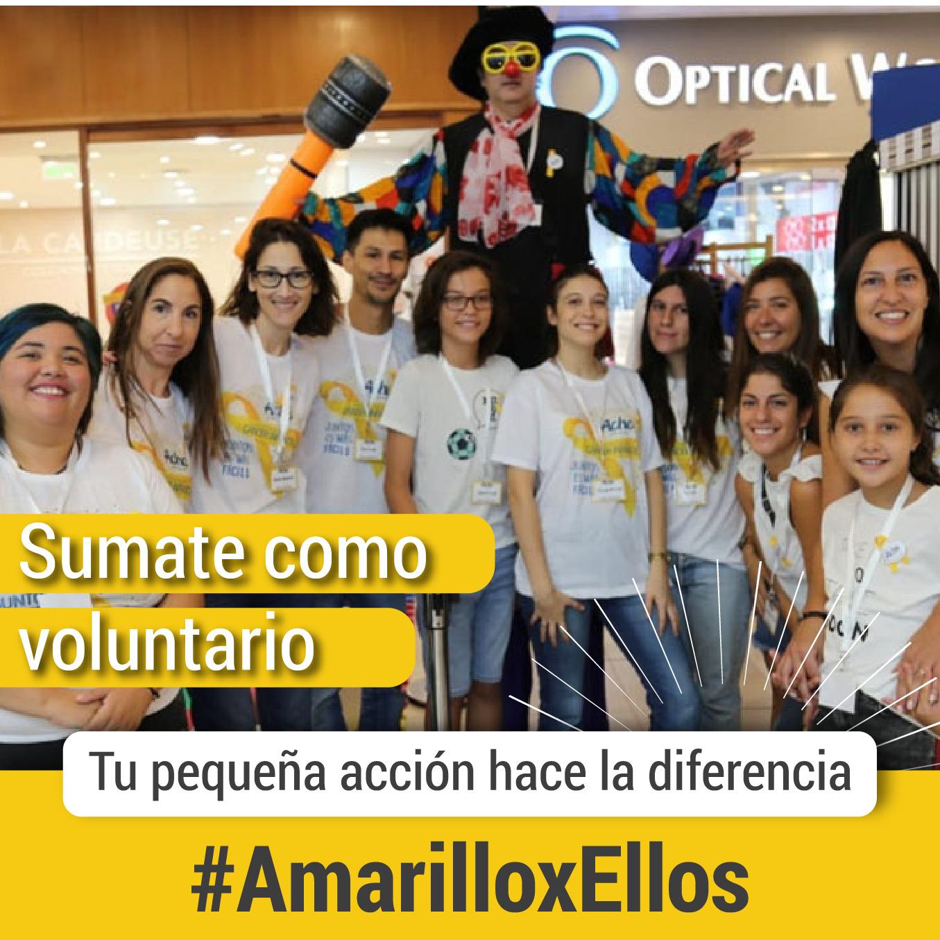 Sumate a #AmarilloxEllos, la campaña de concientización sobre el Cáncer Infantil