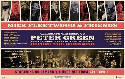 Mick Fleetwood & Friends celebra la música de Peter Green y los primeros años de FleetWood Mac con un concierto único