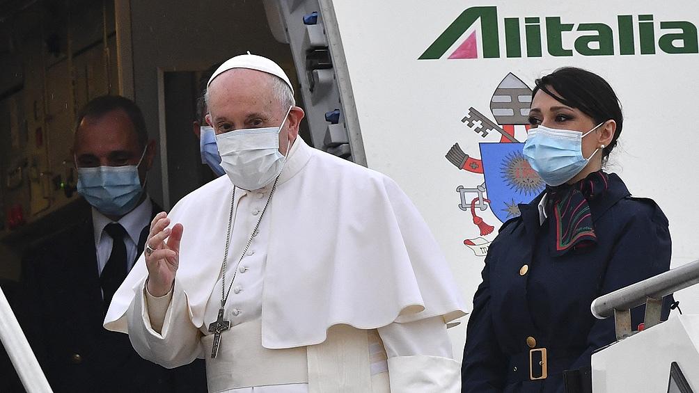 El papa Francisco comienza su histórica visita a Irak