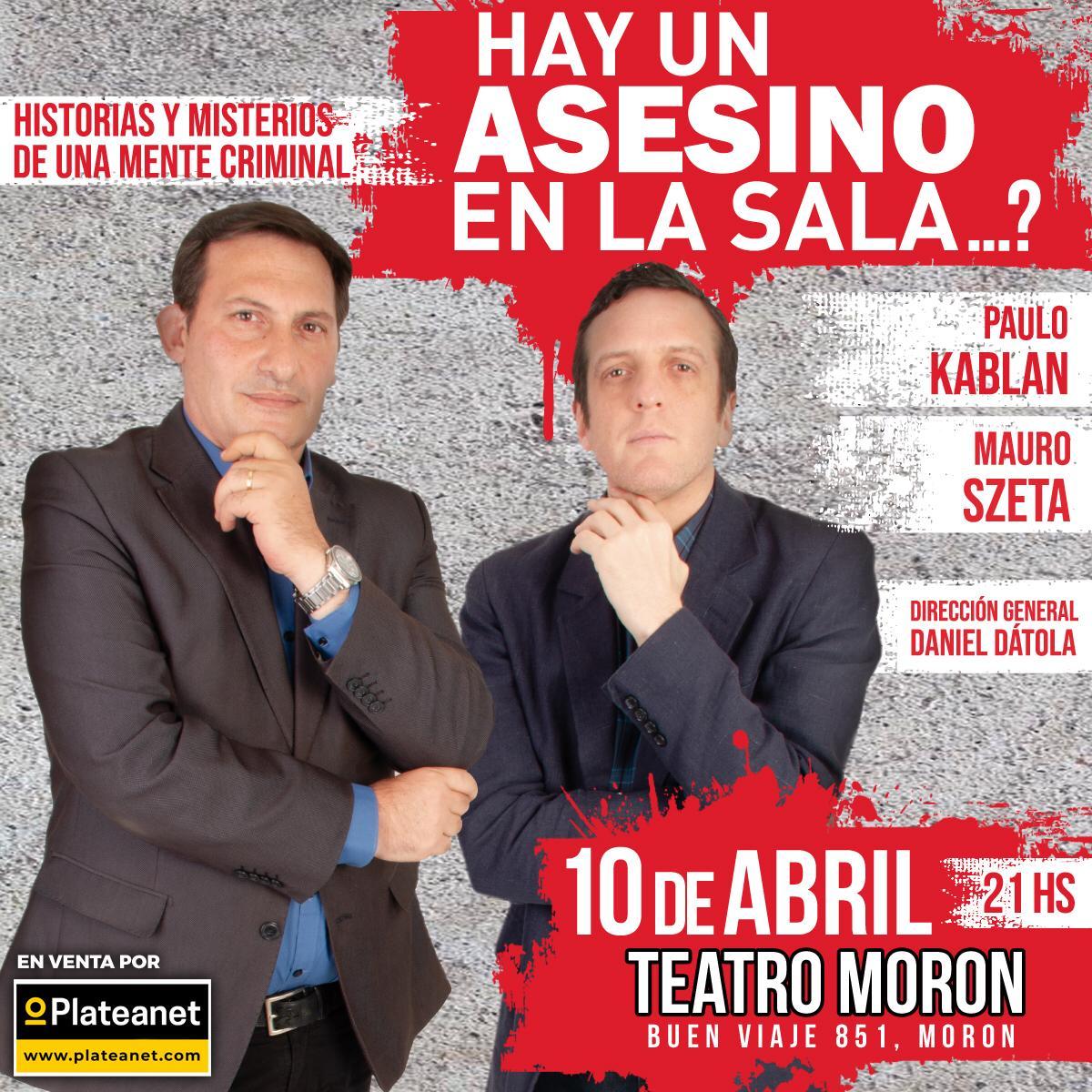 Paulo Kablan  y Mauro Szeta   se presentarán en el Teatro Morón