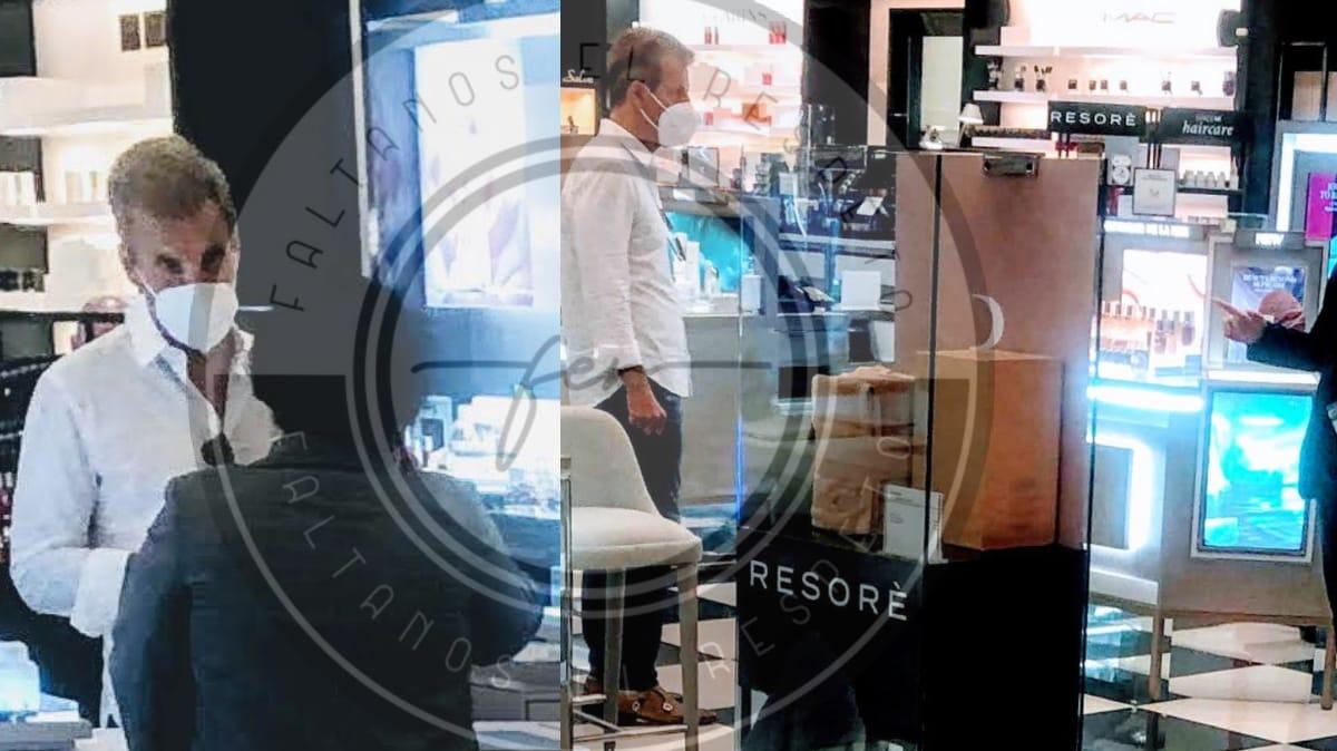 Martin Redrado probando cremas en Aventura Mall