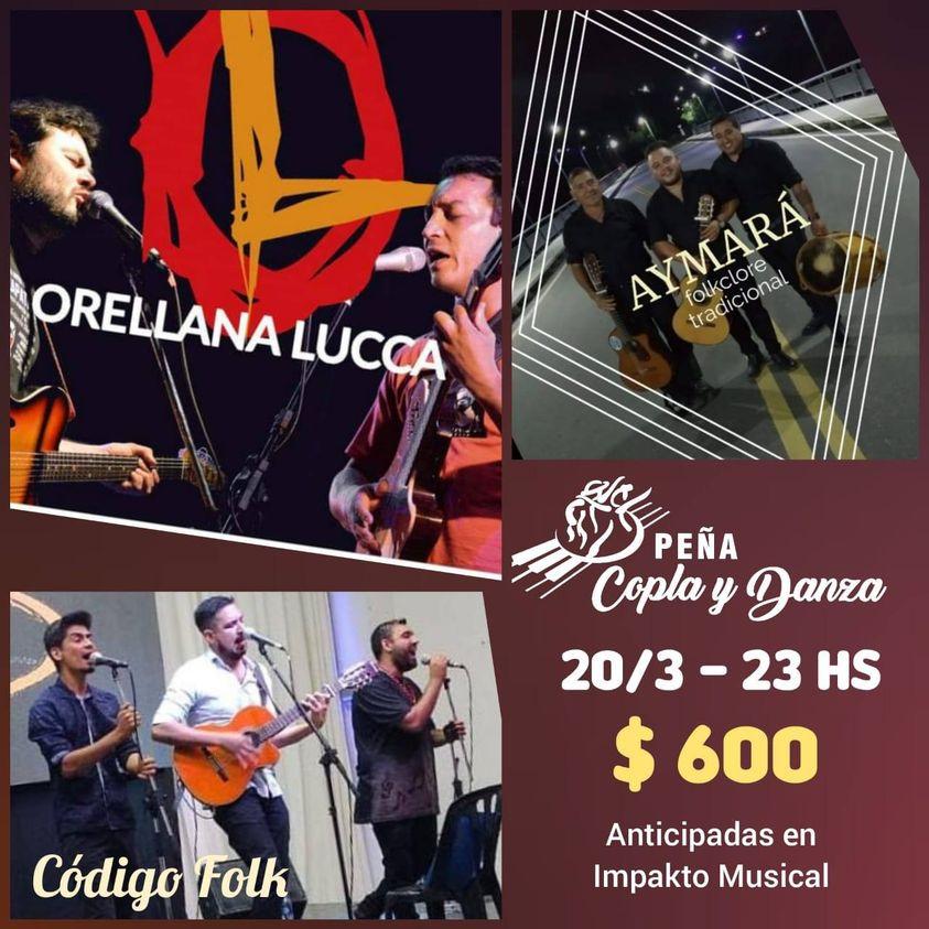 El dúo Orellana-Lucca brindará un show en el escenario de Peña Copla y Danza