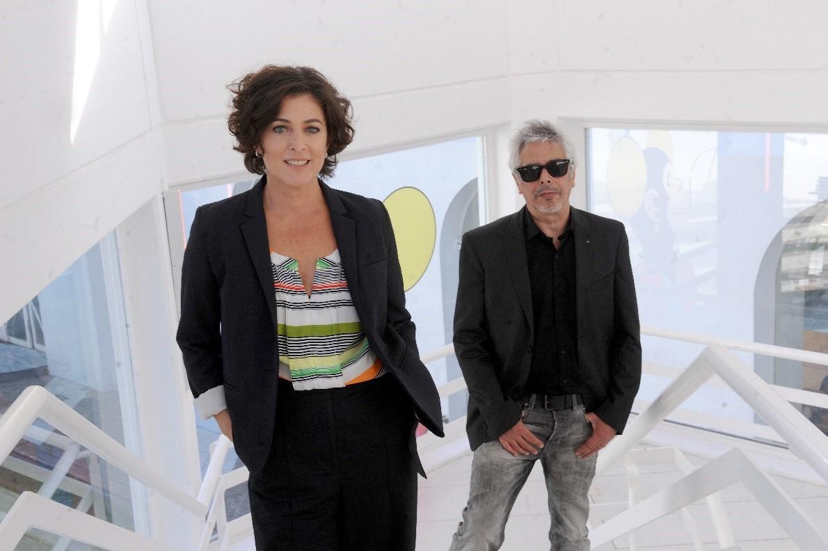 Bobby Flores y Mariana Mactas juntos en el aire de CNN Radio