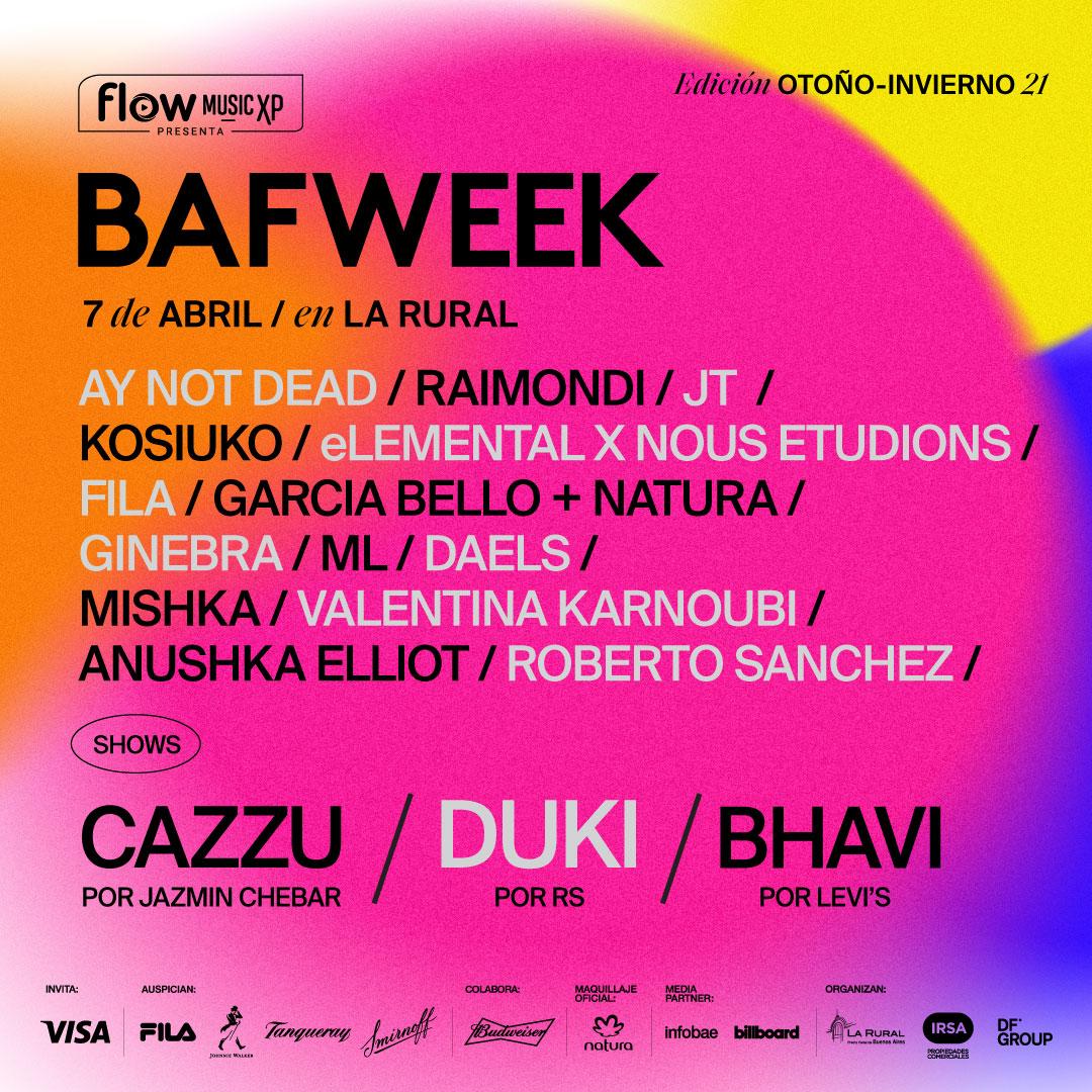 BAFWEEK reprograma el evento por condiciones climáticas y se realizará el miércoles 7 de abril #BAFWeekFashionShow