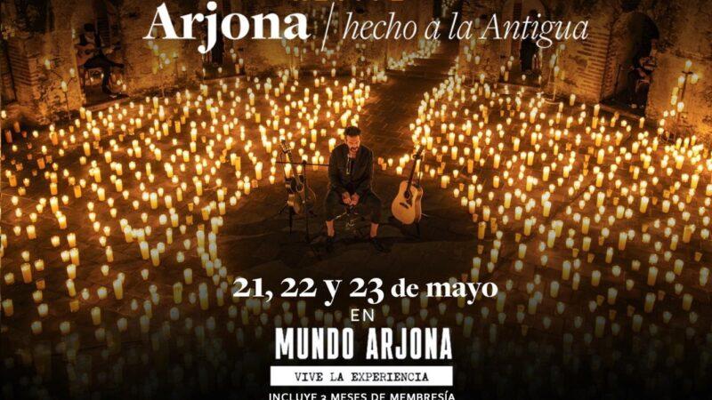 """ARJONA """"Hecho a la Antigua""""reviví el streaming más visto en la historia de Iberoamérica"""