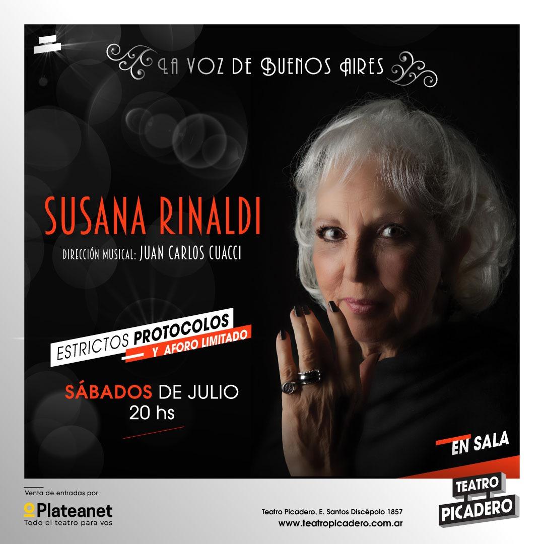 Susana Rinaldi en el Teatro Picadero