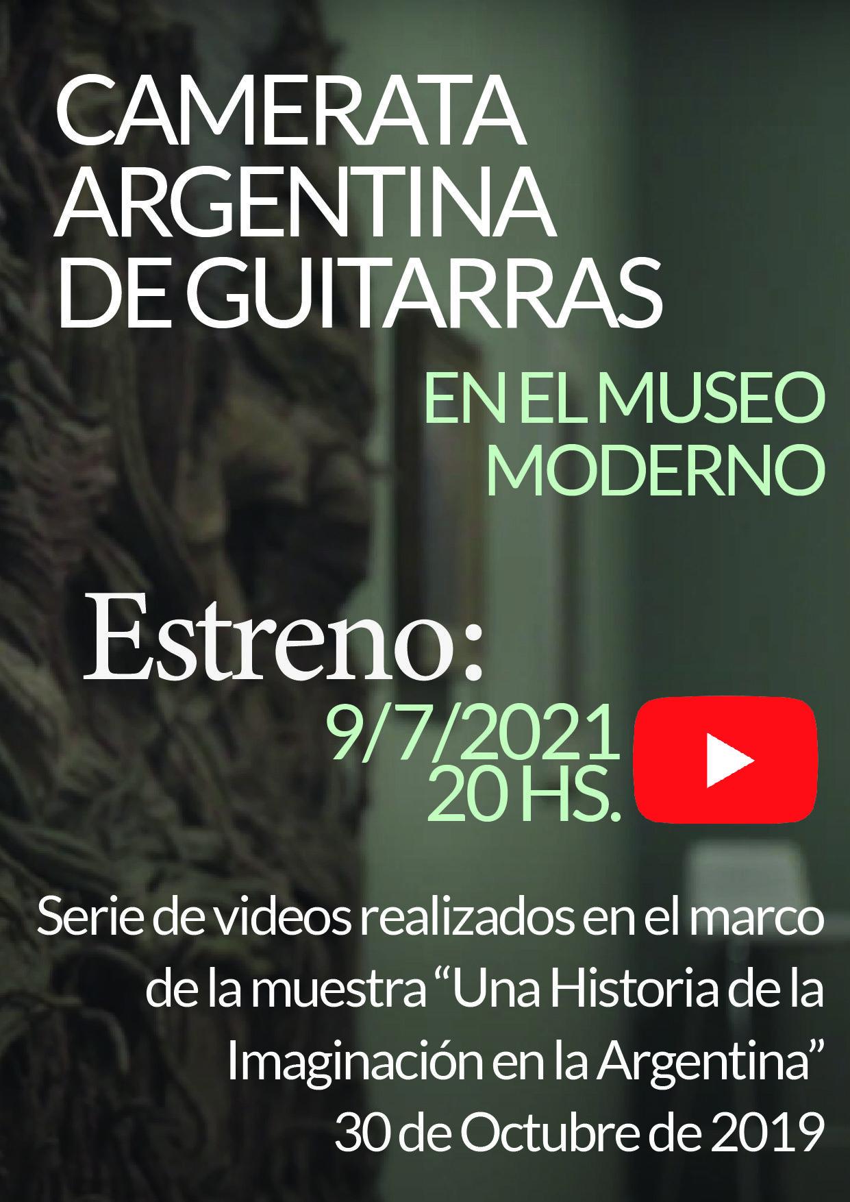 La Camerata Argentina de Guitarras estrena videos de música argentina realizados en el Museo de Arte Moderno de Buenos Aires