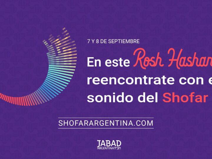 Llega Rosh Hashaná, el Año Nuevo Judío, y Jabad invita a escuchar juntos el Shofar