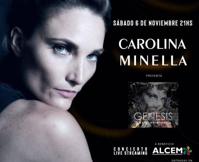 Carolina Minella dará show a beneficio de la Asociación de  lucha contra esclerosis múltiple (ALCEM).