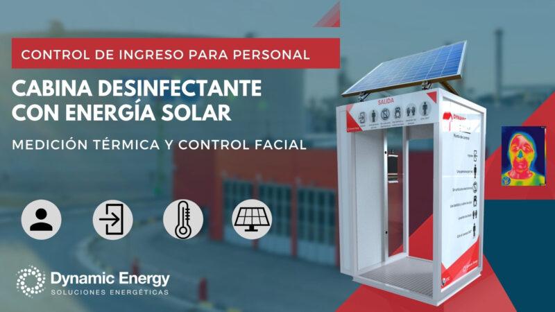 """""""Dynamic Checkpoint"""", la primera cabina desinfectante con energía solar, medición térmica y control facial"""