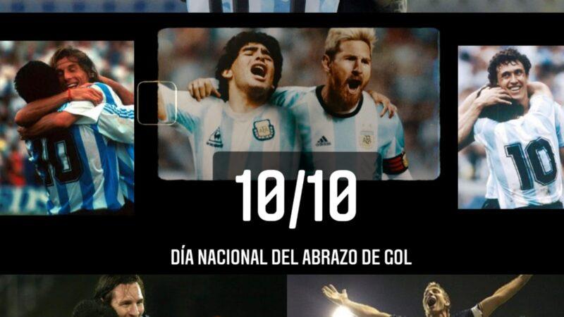 """Hacer del 10/10 el """"Día Nacional del abrazo de gol"""""""